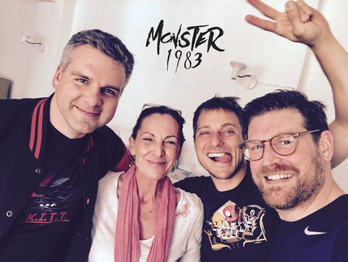 V.l.n.r.: Mr Mayer - Peter Lontzek; Lucy - Bettina Weiß; Toby Forster - Ozan Ünal